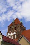 Historyczny kościół blisko centrum miasta obraz stock