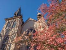 Historyczny kościół w wiośnie Obraz Royalty Free