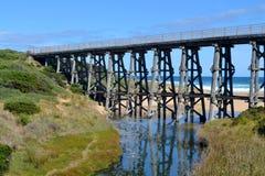 Sztachetowy most Zdjęcia Royalty Free