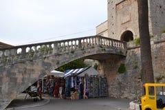 Historyczny Korcula, pamiątka kwadrat - Chorwacja obrazy royalty free
