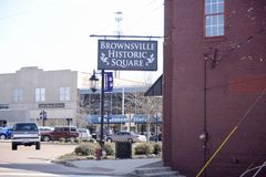 Historyczny kwadrat w Brownsville Tennessee Zdjęcia Royalty Free