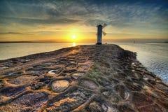 Historyczny latarnia morska wiatraczek Stawa Mlyny, Swinoujscie, Polska Obraz Royalty Free