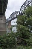 Historyczny linia kolejowa most obrazy royalty free