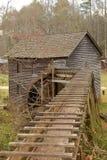 historyczny młyński waterwheel fotografia stock