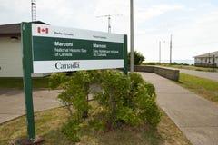 Historyczny Marconi Góruje stację nowa Scotia - Glace zatoka - Zdjęcie Stock