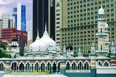 Historyczny meczet, Masjid Jamek przy Kuala Lumpur zdjęcia stock