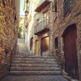 Historyczny miasteczko Baga w Catalonia Obrazy Stock