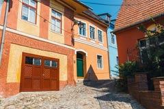 Historyczny miasteczko Sighisoara Miasto w którym był urodzony Vlad Tepes, Dracula obraz stock