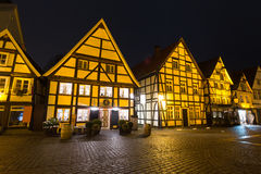 Historyczny miasteczko soest Germany w wieczór Fotografia Royalty Free