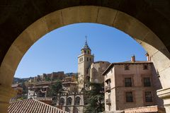Historyczny miasto Albarracin, Hiszpania obraz stock