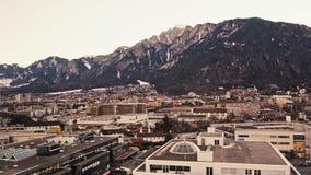 Historyczny miasto Chur zmierzch zbiory