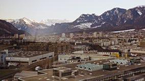Historyczny miasto Chur zmierzch zdjęcie wideo