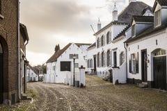 Historyczny miasto znać dla swój białych domów cierń obrazy royalty free