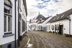 Historyczny miasto znać dla swój białych domów cierń fotografia stock