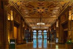 Historyczny milenium Biltmore hotelu wnętrze W centrum Los Angeles, Kwiecień 8, 2017 fotografia royalty free