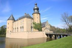 Historyczny moated Grodowy Gemen w Bocholt, Niemcy Obraz Royalty Free