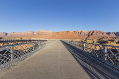 Historyczny Navajo most w roztoka jaru Krajowym Rekreacyjnym terenie Fotografia Stock
