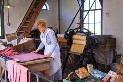 Historyczny obmycie pokój w Zuiderzee muzeum Zdjęcie Stock