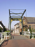 Historyczny obsady żelaza drawbridge anno 1887 Obraz Stock