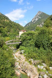 Historyczny papierowego młynu dolinny pobliski toscolano, Italy Fotografia Stock