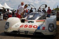 Historyczny Peugeot przy Le Mans klasykiem zdjęcie royalty free