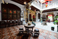Historyczny Pinang Peranakan dwór w Georgetown, Penang Zdjęcie Royalty Free