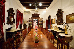 Historyczny Pinang Peranakan dwór w Georgetown, Penang Zdjęcia Royalty Free