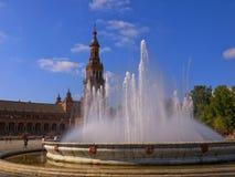 Historyczny Plac De españa w Seville Hiszpania zdjęcie royalty free
