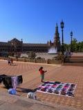 Historyczny Plac De españa w Seville Hiszpania zdjęcie stock