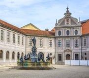 Historyczny podwórze wśrodku Residenz w Monachium Obraz Stock