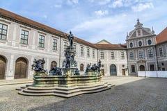 Historyczny podwórze wśrodku Residenz w Monachium Zdjęcia Stock