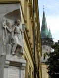 Historyczny pomnik i katedra w dowtown Presov, Sistani Obrazy Royalty Free