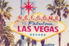 Historyczny powitanie Las Vegas znak zdjęcie stock