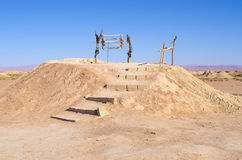 Historyczny qanat w Morroco obrazy royalty free