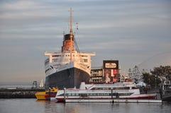 Historyczny Queen Mary w Long Beach, Kalifornia Zdjęcia Royalty Free