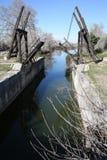 Historyczny remisu most w Arles, Południowy Francja zdjęcia stock