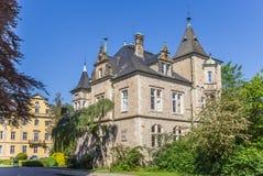 Historyczny renaissance Buckeburg pałac kompleks w Niemcy Zdjęcia Royalty Free