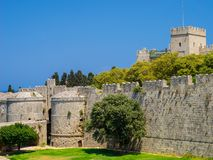Historyczny Rhodes Grecja Europa Obrazy Royalty Free