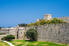 Historyczny Rhodes Grecja Europa Obraz Stock