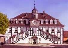 Historyczny Rietberger urzędu miasta _Kreis GÃ ¼ tersloh, Północny Rhin Zdjęcia Royalty Free