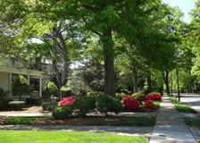 Historyczny sąsiedztwo zgoda, Pólnocna Karolina Obrazy Royalty Free