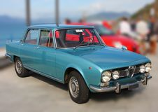 Historyczny samochodowy Alfa Romeo Alfetta obrazy royalty free