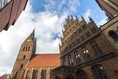 Historyczny stary grodzki Hannover Germany Fotografia Stock