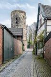 Historyczny stary grodzki Liedberg w NRW, Niemcy Obrazy Royalty Free