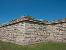 Historyczny stary kamienny fort w Povoa De Varzim, Porto okręg, Portugalia obraz stock