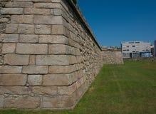 Historyczny stary kamienny fort w Povoa De Varzim, Porto okręg, Portugalia zdjęcie royalty free