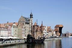 Historyczny Stary miasteczko Gdański w Polska Obrazy Royalty Free
