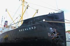 Historyczny statek w schronieniu Stavanger, Norwegia Obraz Royalty Free