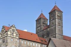 Historyczny Stiftskirche kościół w Quedlinburg, Niemcy obrazy stock