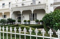 Historyczny tarasu dom w Wschodnim Melbourne w Australia zdjęcie royalty free